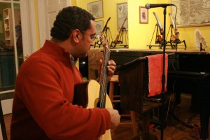 Gerry Saulter plays at the Fourth Friday Studio Series