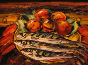 Still Life with Mackerel, by Rick Mullin