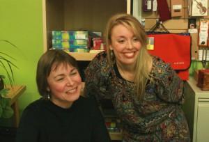 Kim Bridgford and Annabelle Moseley at the Long Island Violin Shop