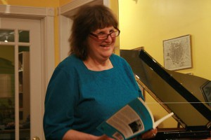 Patti Tana at the Long Island Violin Shop