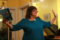 Patti Tana reads at the String Poet Studio Series