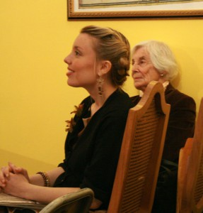 Annabelle Moseley and Claire Nicolas White at the String Poet Studio Series