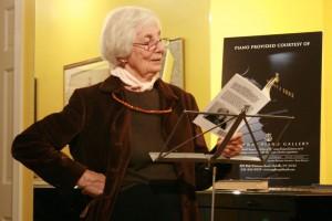 Claire Nicolas White reading at the String Poet Studio Series