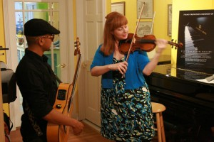 Cady Finlayson and Vita Tanga at the String Poet Studio Series