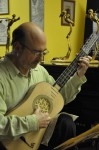 Harris Becker performs baroque guitar at the String Poet Studio Series