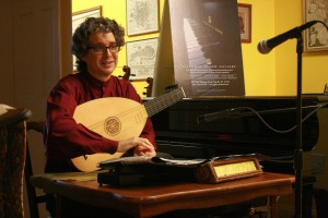 Christopher Morrongiello performing at the String Poet Studio Series, August 6, 2011