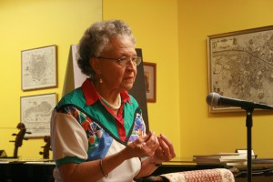 Rhina Espaillat reading at the String Poet Studio Series on August 6, 2011