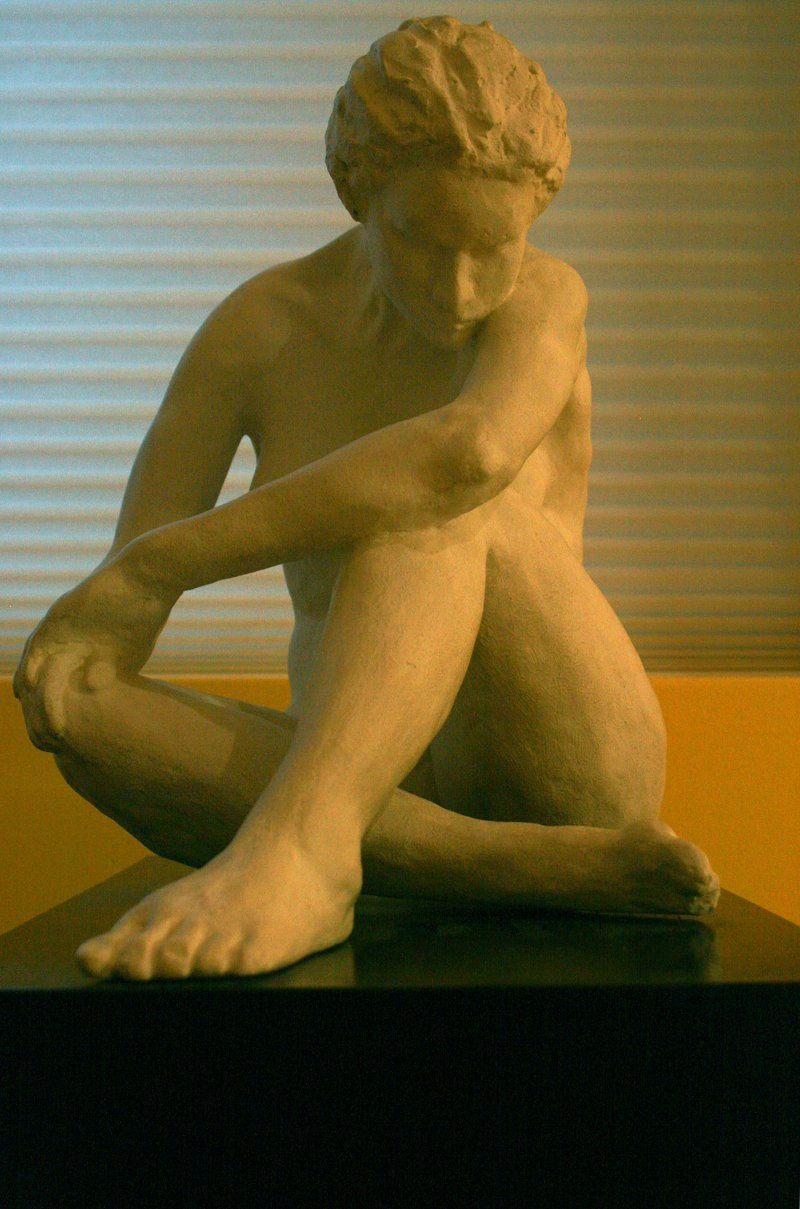 """Seated Nude"" by Alfred Moskowitz"