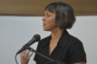 Kim Bridgford reads at the String Poet Women Writers of Tomorrow awards ceremony