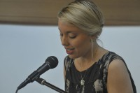 Annabelle Moseley reads at the String Poet Women Writers of Tomorrow awards ceremony