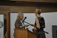 Cynthia Shor and Annabelle Moseley at the String Poet Women Writers of Tomorrow awards ceremony