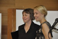 Kim Bridgford and Annabelle Moseley at the String Poet Women Writers of Tomorrow awards ceremony