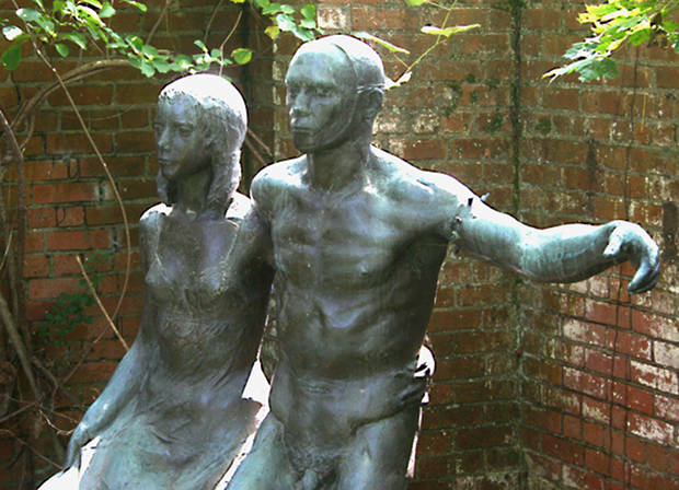 Two Dancers, (from Dance of Death), 1969, bronze, estate of Robert White